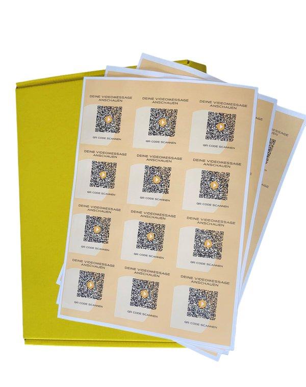 StickerBOX - 320 QR-Code-Stickers deutschsprachig